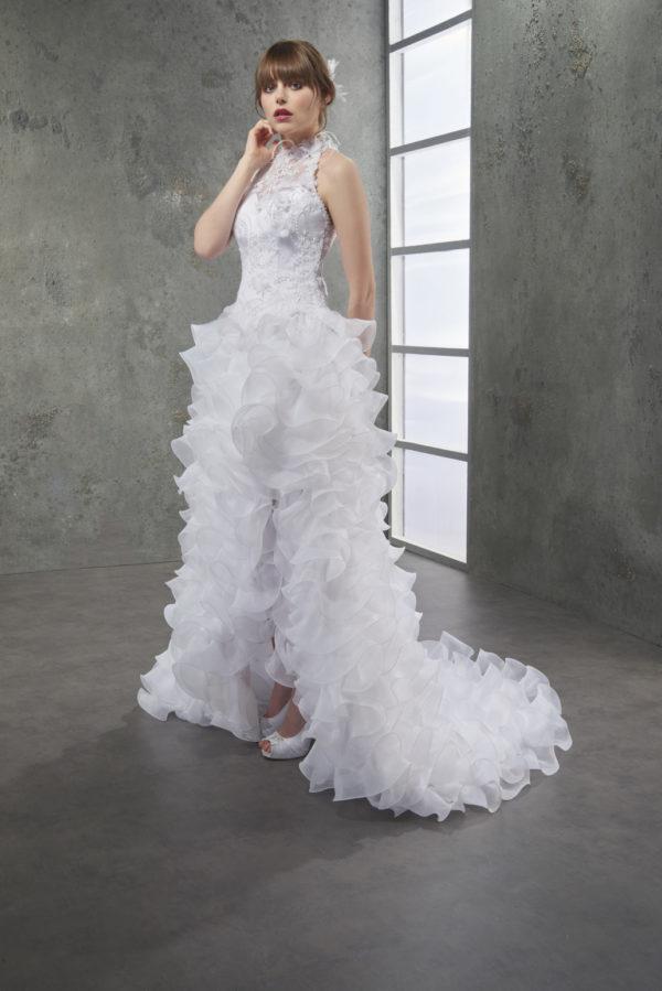 Robe de mariage LATINO - Jupe en organza et bustier en dentelle